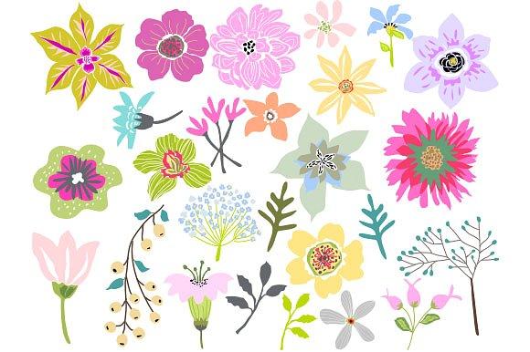 Beautiful clipart flower. Flowers clip art vector