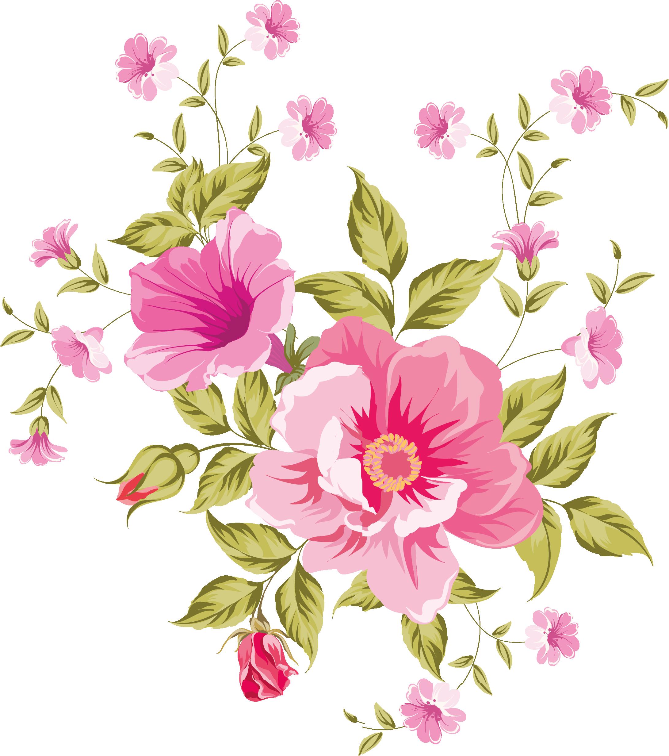 My design flowers decoupage. Beautiful clipart flower