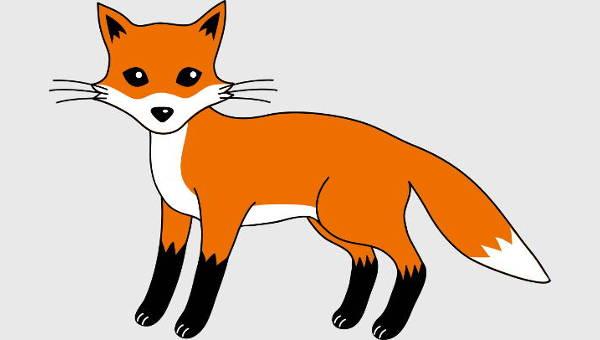 cliparts free vector. Beautiful clipart fox