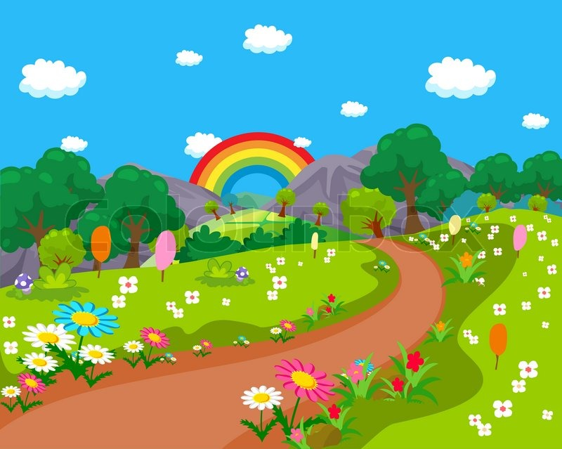 Beautiful clipart garden.  collection of background
