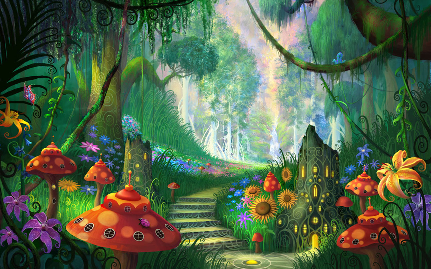 Magic fantasy wallpaper gallery. Beautiful clipart garden