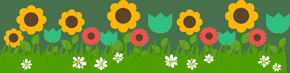 What makes a landscape. Beautiful clipart garden