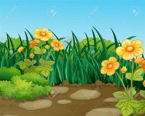 Beautiful clipart garden. Girl planting tree cartoon
