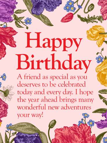 To my special friend. Beautiful clipart happy birthday