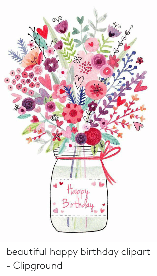 Clipground . Beautiful clipart happy birthday