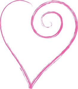 Pink . Beautiful clipart heart