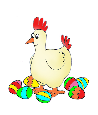 Chicken clipart easter. Funny and cute clip
