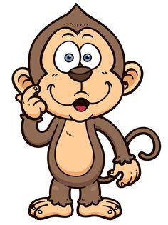 Cute cartoon monkeys clip. Beautiful clipart monkey