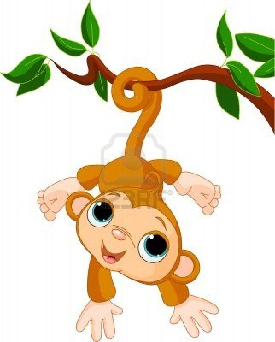 Beautiful clipart monkey. Illustration of cute baby