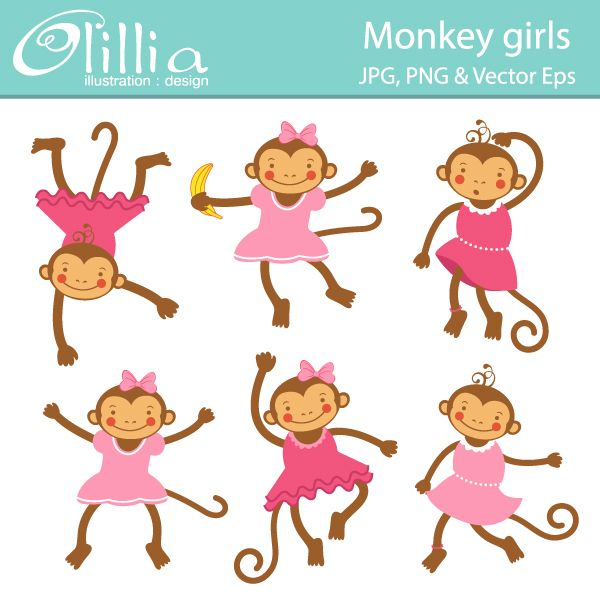 Have a party with. Beautiful clipart monkey