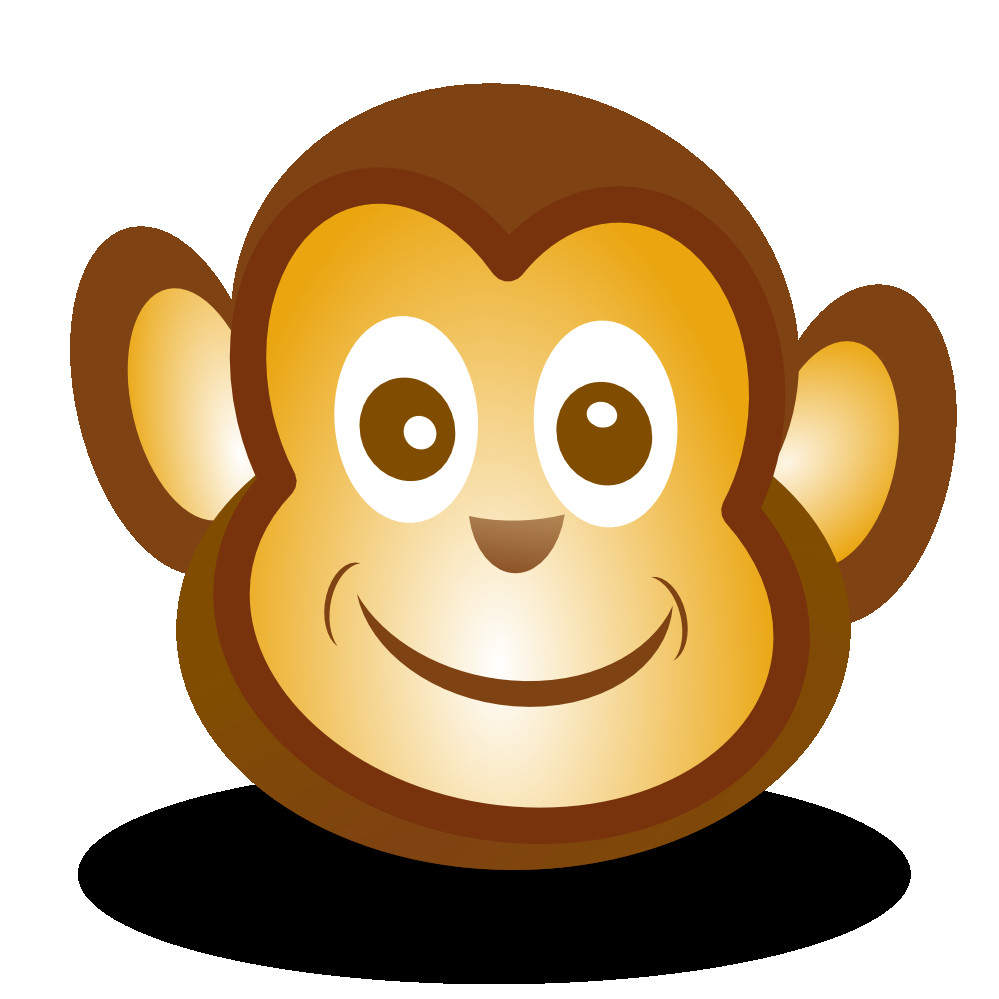 Beautiful clipart monkey. Face thatswhatsup ist net