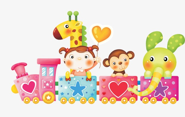 Cute cartoon train little. Beautiful clipart monkey