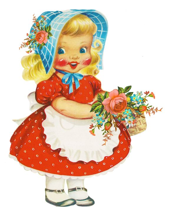 And cute dolls . Beautiful clipart pretty