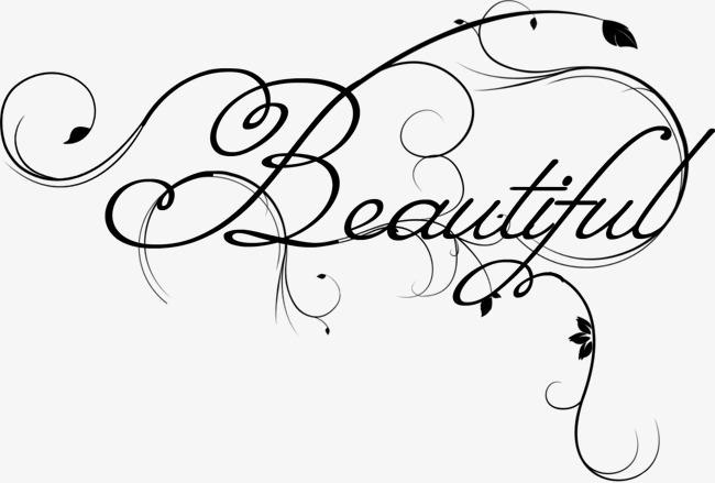 Wordart black png image. Beautiful clipart pretty word