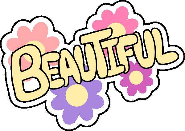 . Beautiful clipart pretty word
