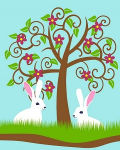 Beautiful clipart rabbit. Printable of and a