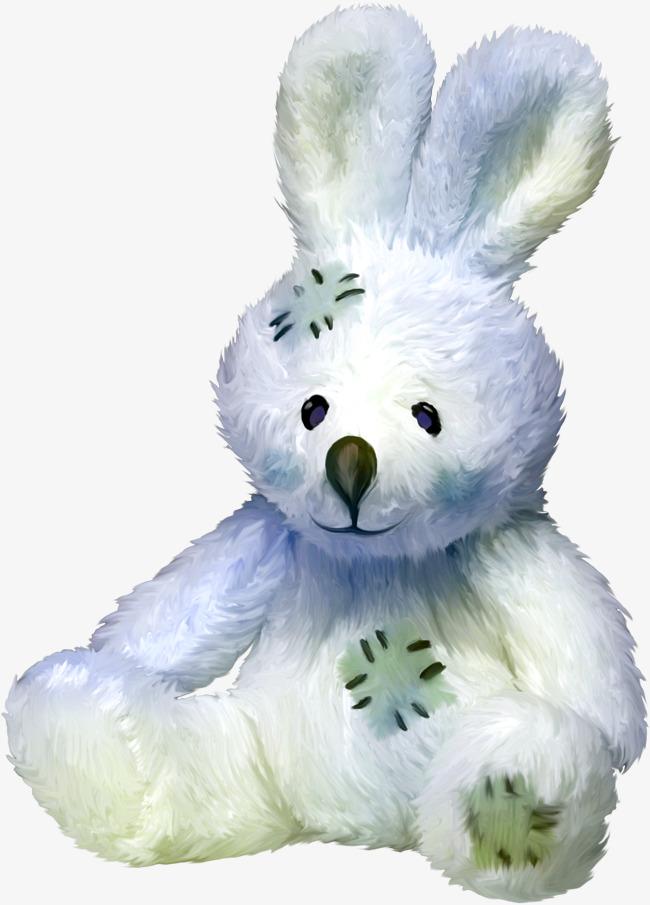Blue stuffed bunny pretty. Beautiful clipart rabbit