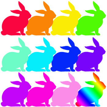 Easter bunny colors by. Beautiful clipart rabbit