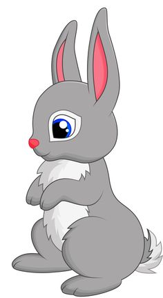 Free baby animal clip. Beautiful clipart rabbit