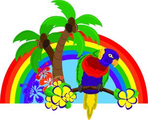 Free tropics image acclaim. Beautiful clipart rainbow