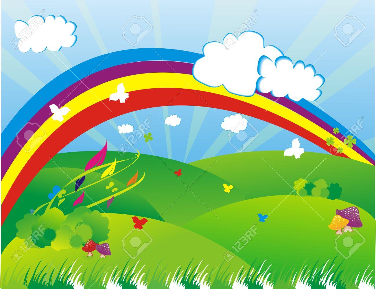 Beautiful clipart rainbow.  collection of garden