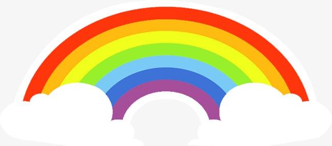 Beautiful clipart rainbow. Exquisite cartoon cloud fine