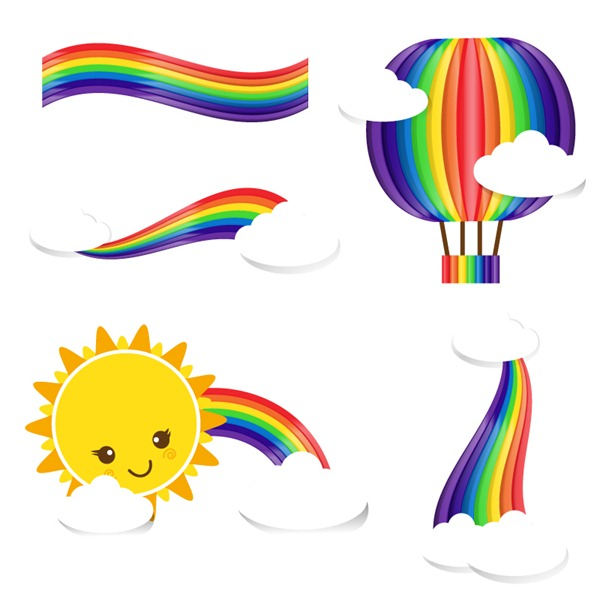 vector graphics my. Beautiful clipart rainbow