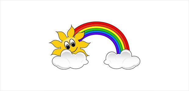 Beautiful clipart rainbow.  cliparts design trends