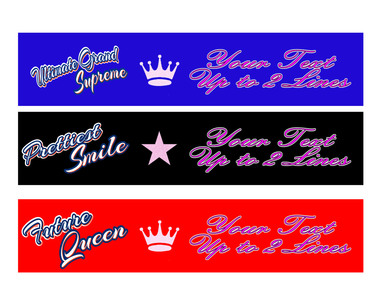 Beautiful clipart sash. Wow custom full color