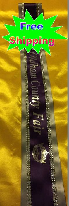 Embroidered pageant sashes cheap. Beautiful clipart sash