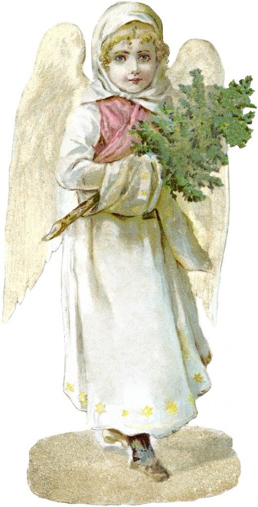 Free victorian angel image. Beautiful clipart sash