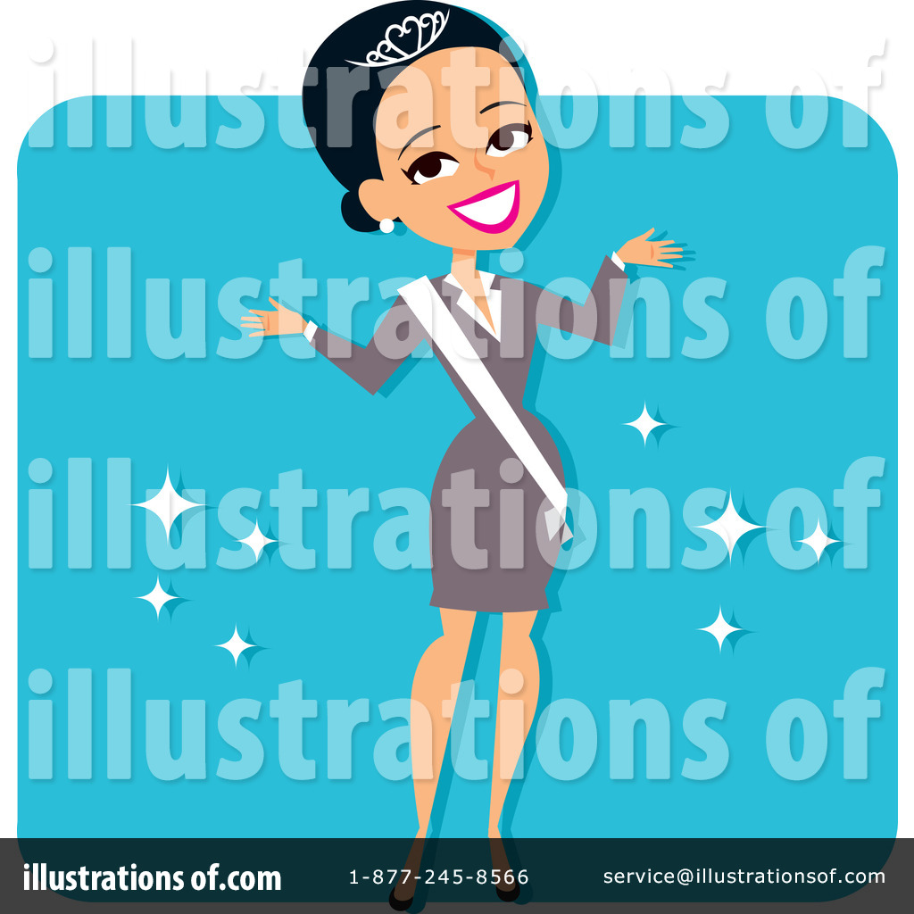 Beautiful clipart sash. Beauty pageant illustration by