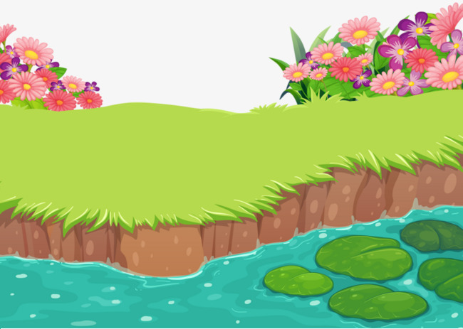 Beautiful clipart scene. View brook meadow png