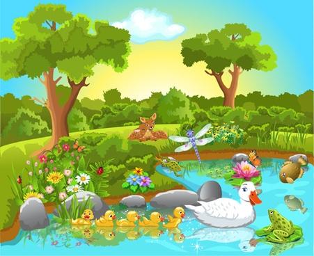 Nature clipart nature scene. Free cliparts download clip