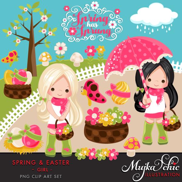 Beauty clipart spring. Easter for girls mujka