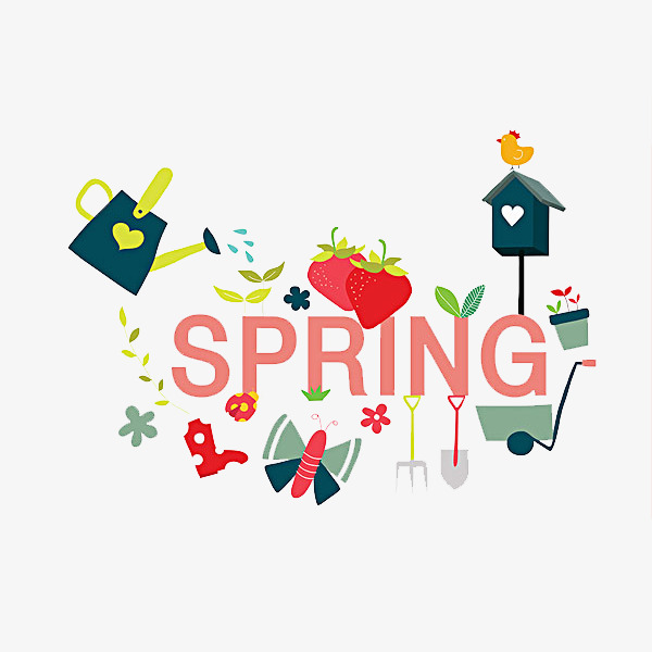 Cartoon jane pen word. Beautiful clipart spring