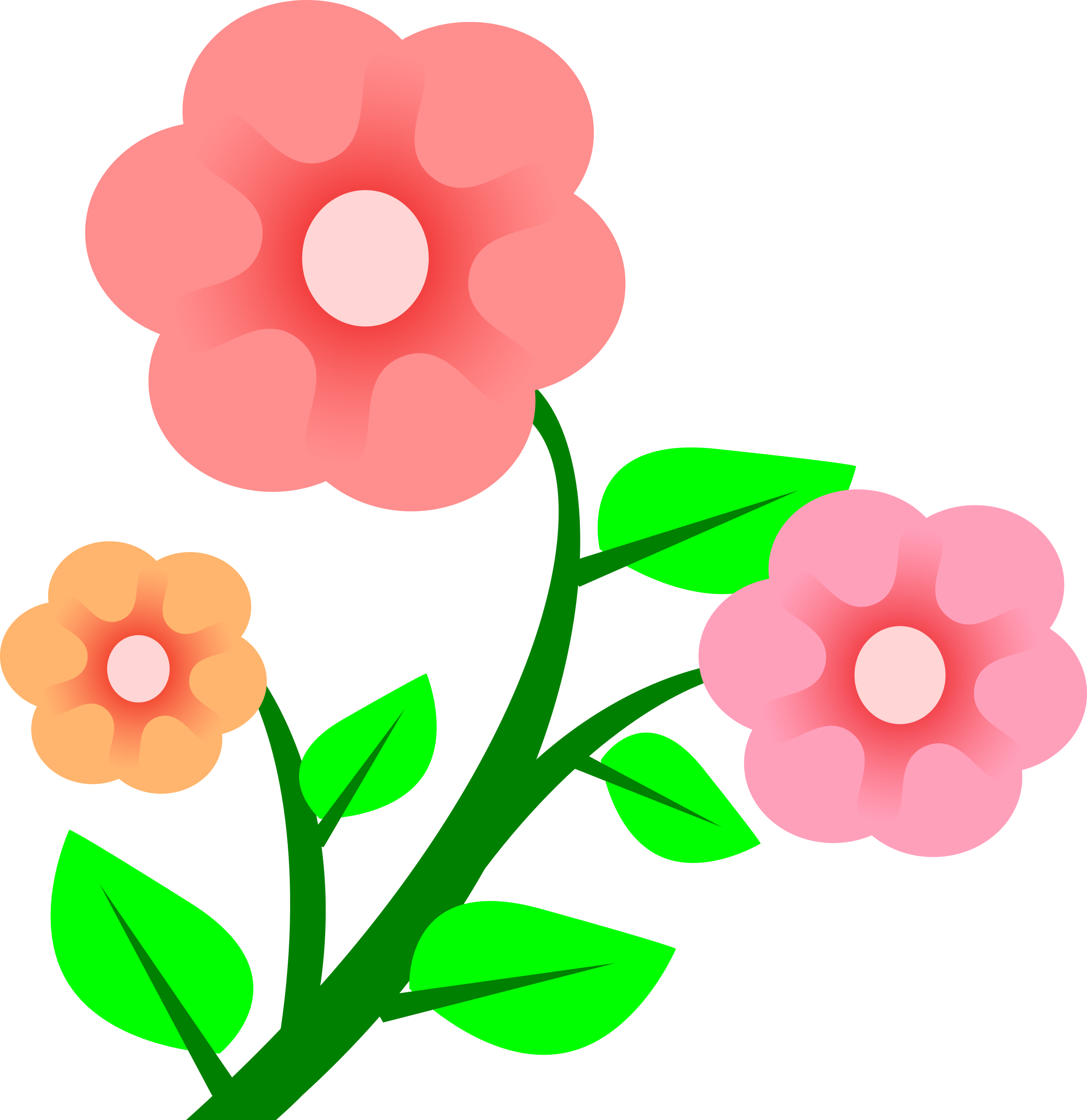 Free of spring flowers. Rose clipart animated