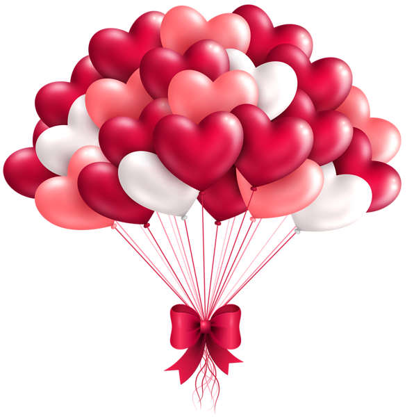 Birthday clipart heart. Beautiful balloons png image