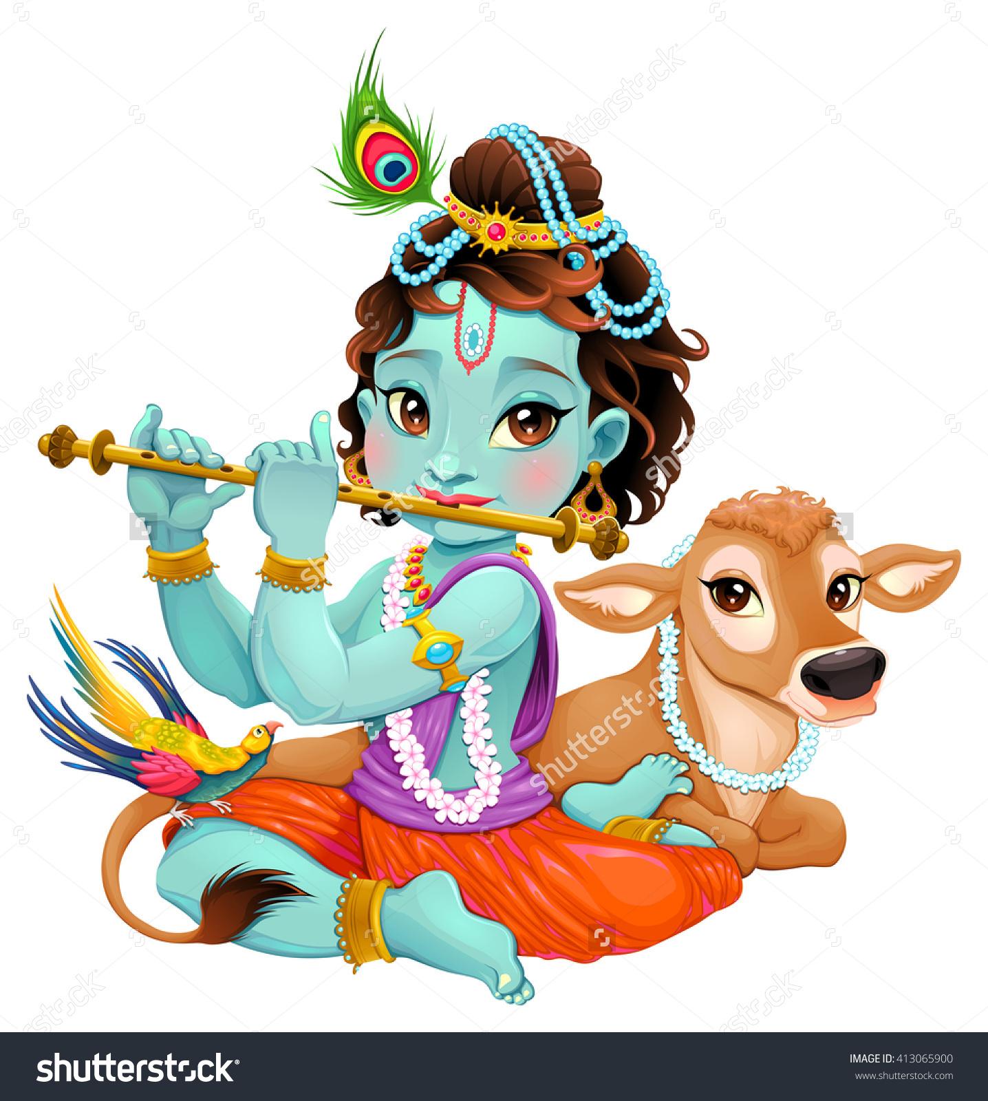 Beautiful clipart vector. Krishna