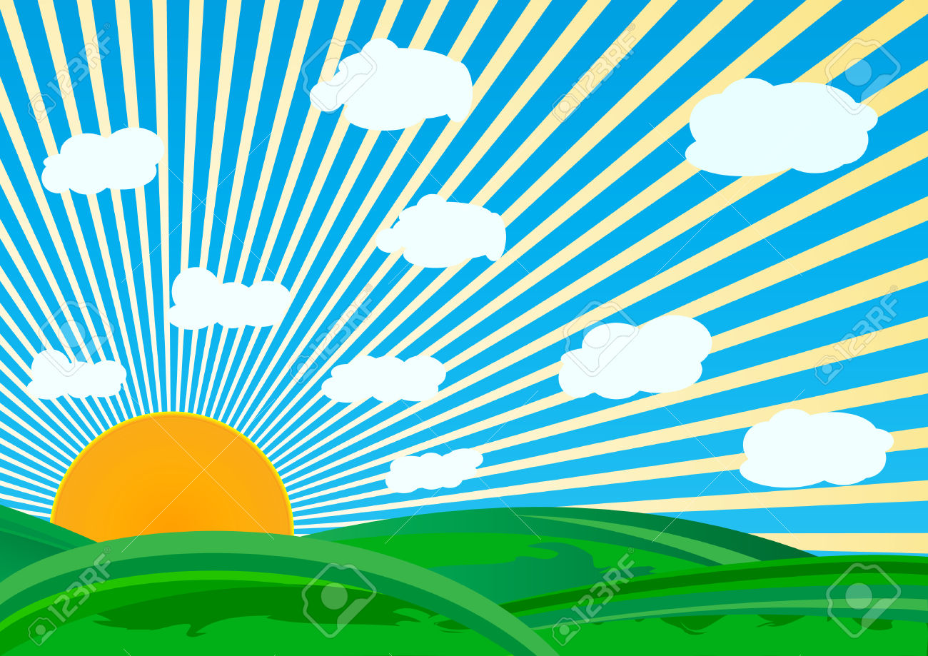 Beautiful clipart vector. Sunny day free collection