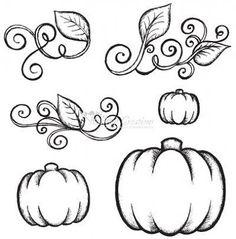 Beautiful clipart vine. Pumpkin border vector art