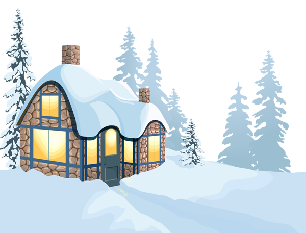 Beautiful clipart winter. House and snow png