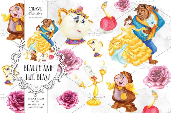 Beauty clipart. And the beast clip