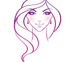 Women hair vector panda. Beauty clipart