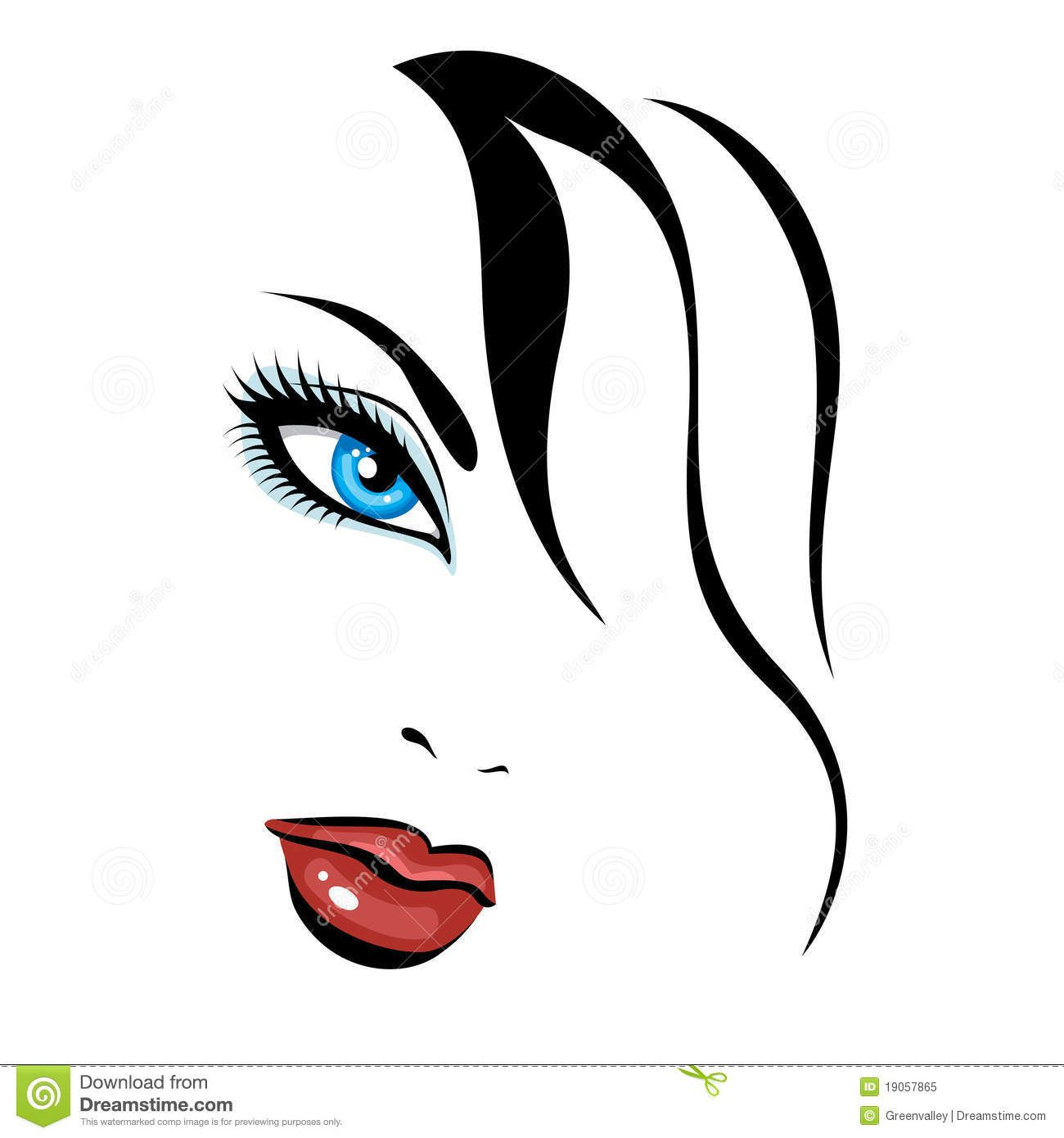 Faces clipart beautiful. Girl face royalty free