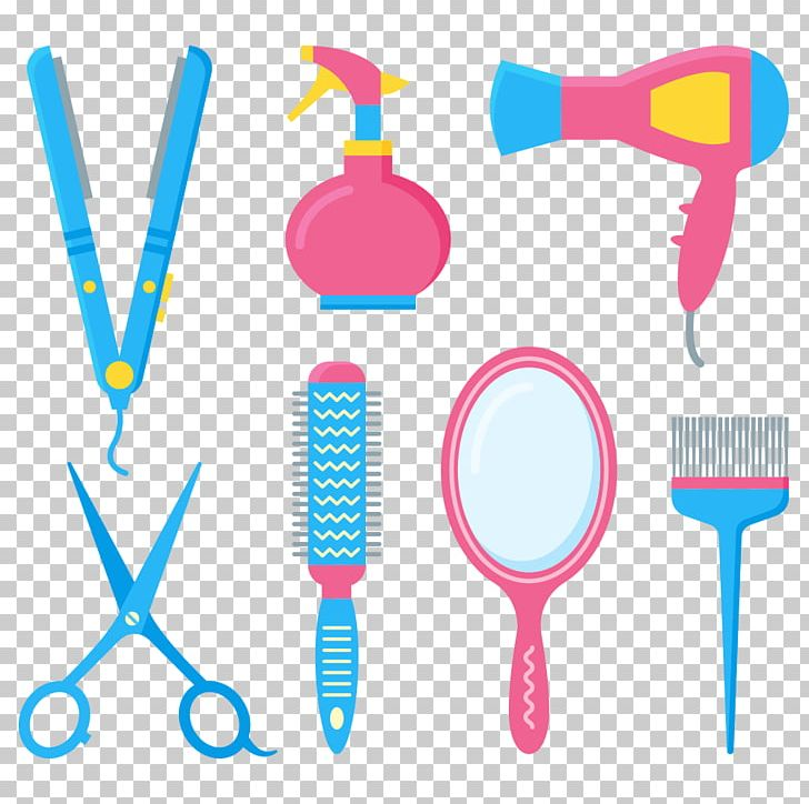Comb barbershop hairdresser hair. Beauty clipart beautiful lady