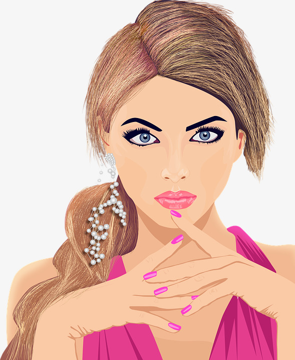 Pretty girl makeup png. Beauty clipart beautiful lady