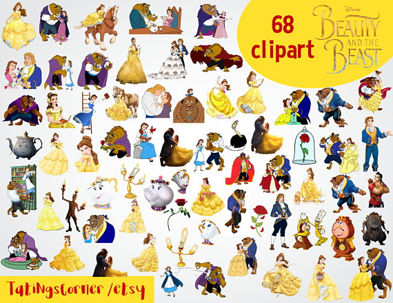 Beauty clipart beauty and the beast.