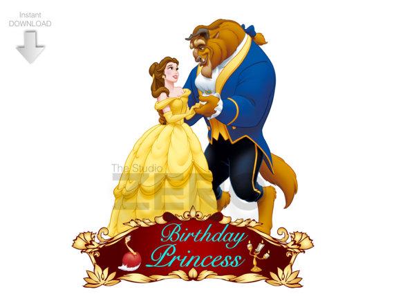 Beauty clipart beauty and the beast. Disney digital birthday
