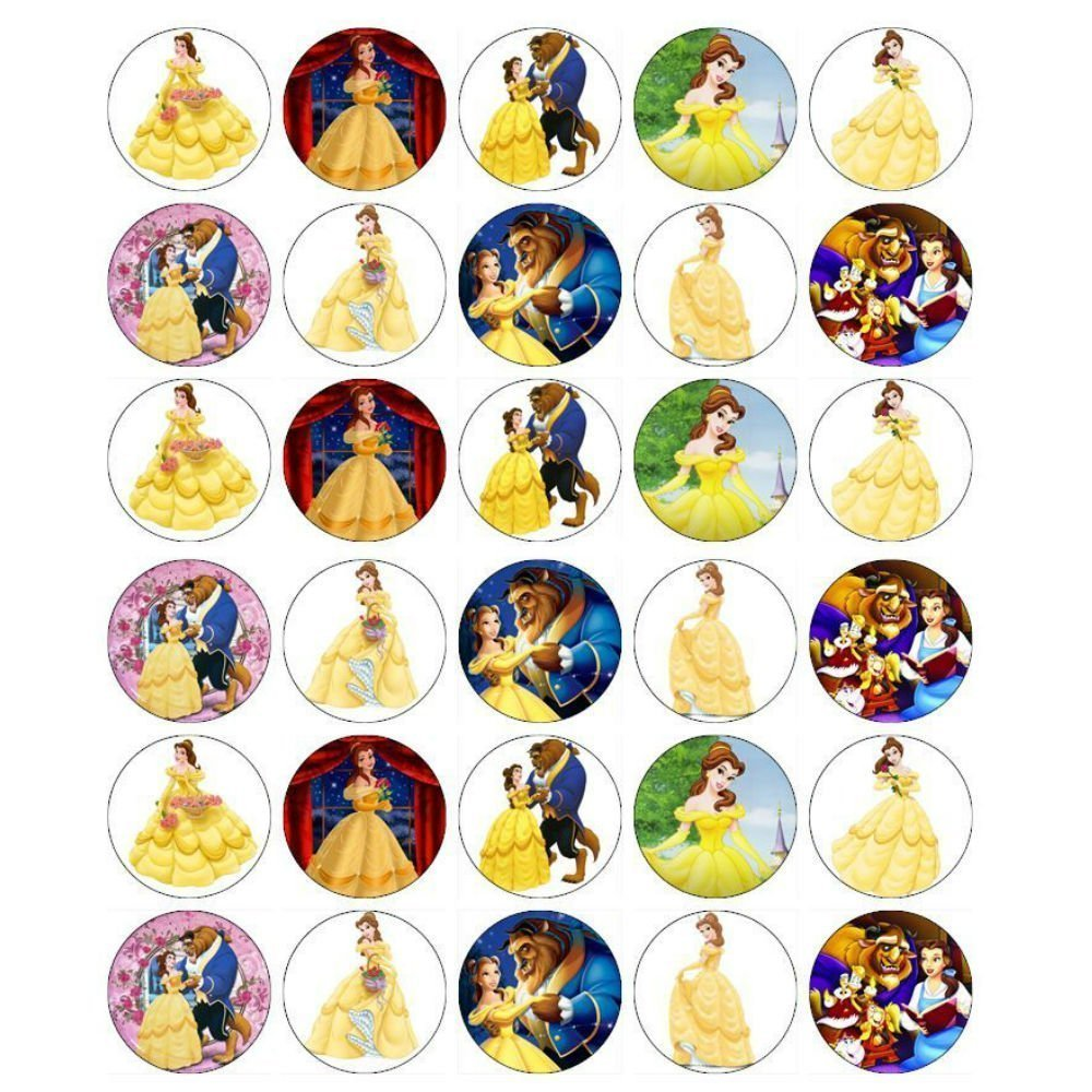 Edible cupcake toppers. Beauty clipart beauty and the beast